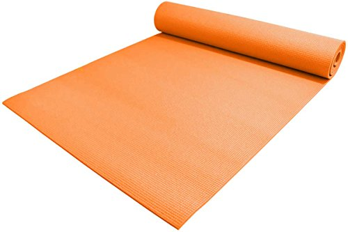 "YogaAccessories 1/4"" Thick High-Density Deluxe Non-Slip Exer"