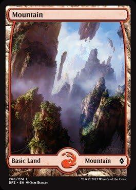 Mountain FOIL Version 2 NM//MBattle for ZendikarMagic MTG Full Art