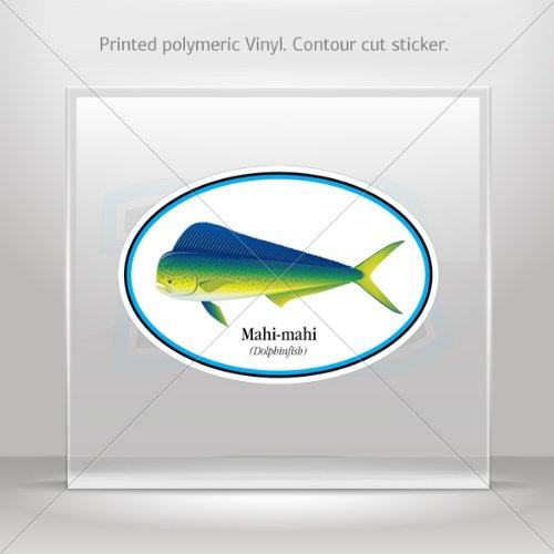 Price comparison product image Decal Stickers Mahi-Mahi Dorado Fish Tablet Laptops Weatherproof Sport (4 X 2.73 Inches)