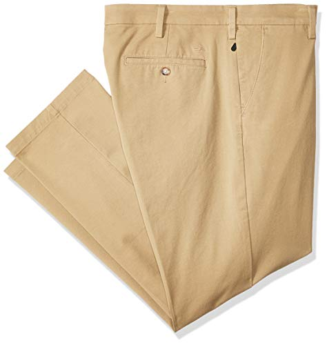 Dockers Men's Slim Tapered Fit Workday Khaki Smart 360 Flex Pants, New British (Stretch), 34W x 32L