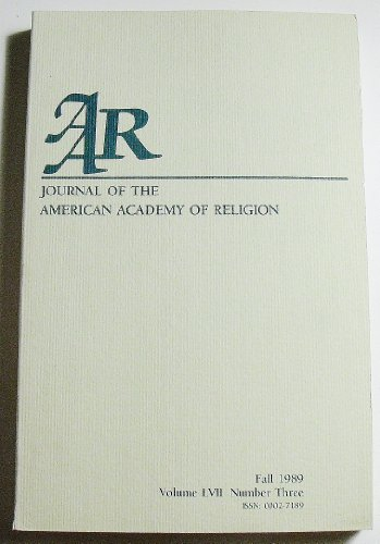 Journal of the American Academy of Religion (Volume LVII Number Three, Fall 1989)