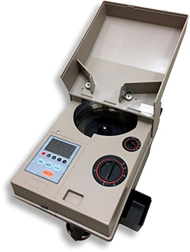 Ribao CS-10 High Speed Portable Coin Counter and Sorter, 1700 Coins per Minute Counting Speed, 1500 Coins Hopper Capacity, Suitable for International Coins and Tokens
