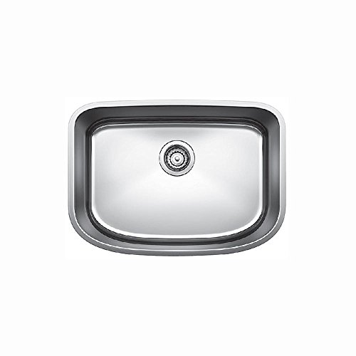 Blanco 441587 One Undermount Single Bowl Kitchen Sink, Medium, Stainless Steel