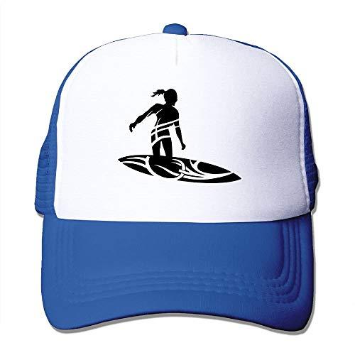 (MQINMYI Tribal Surfing Female Big Foam Mesh Truck Cap Mesh Back Adjustable Cap RoyalBlue)