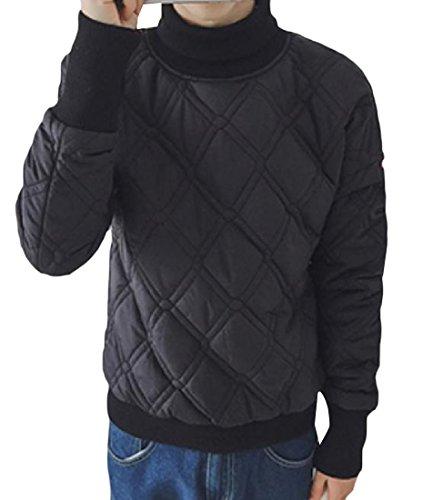 Degli Xinheo Solido Di Pullover Addensato Nero Calda Colore Dolcevita Uomini Outerwear qpw8xvA
