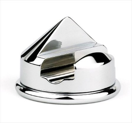 (GBS Shaving Razor Stand. Single Razor Cone Style Holder. Heavy Duty Chrome Base Protective Bottom. Fits Most Name Brand Razors. Manual, 5 and 3 Blade. Polished Steel Matches Any Grooming)