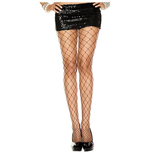 Wide Diamond Net Pantyhose - TOOGOO(R)1 pair Wide Diamond Net Fishnet Spandex Pantyhose Neon Punk Goth Tights, Black