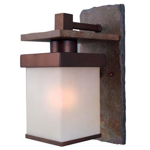 Kenroy Home 70283COP Boulder Medium Wall Lantern, Natural Slate With Copper (Outdoor Furniture Boulder)