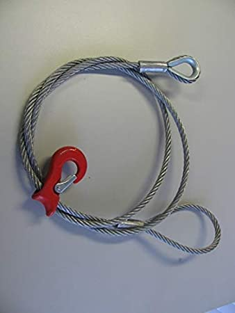 Chokerseil mit eingepressten Seilgleithaken 3//8 Zoll in 12mm und 14mm 3 Längen