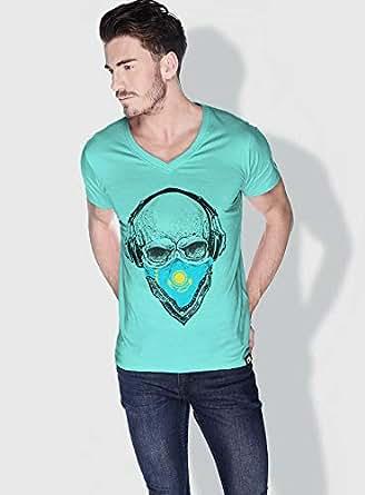 Creo Kazakhstan Skull T-Shirts For Men - M, Green