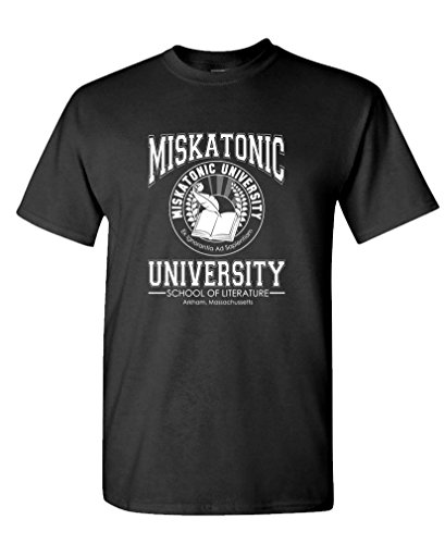 MISKATONIC LITERATURE - lovecraft cthulhu Tee Shirt T-Shirt, L, Black