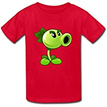 Boy Girl (Age 6-17) Plants Vs. Zombies Peashooter Cotton Tee Shirt