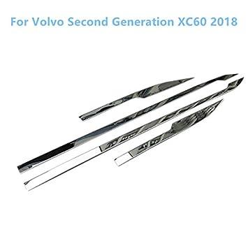 De acero inoxidable para puerta cromado cuerpo moldura decorativa Trim 1set para XC60 2018 de segunda generación coche adornos: Amazon.es: Coche y moto