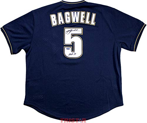 Jeff Bagwell Autographed Jersey - MN 1994 Throwback Navy Inscribed HOF 2017 - Autographed MLB Jerseys ()