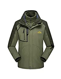 Dnstar Men's Fleece Jacket Liner Ski Outdoor Shell Plus Size