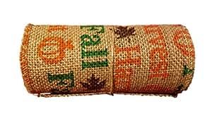 "Fall Harvest Burlap Ribbon Roll - 5.5"" x 10'"