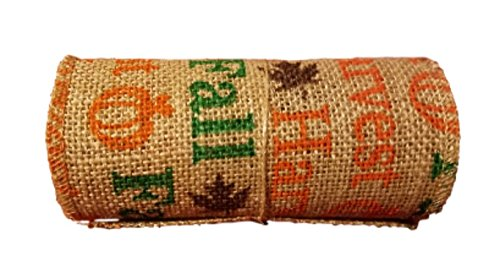 Fall Harvest Burlap Ribbon Roll - 5.5