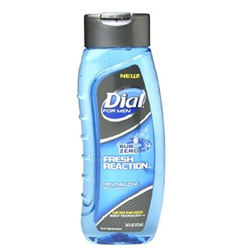 Dial for Men Body Wash Fresh Reaction, Sub Zero 16 fl oz (pack of 2)