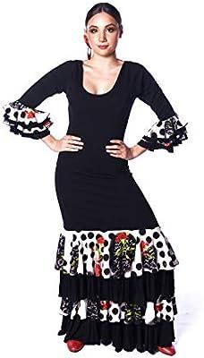 ANUKA Vestido Profesional de Mujer para el Baile Flamenco. Tejido ...