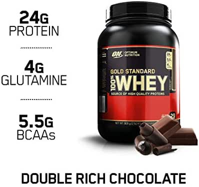 OPTIMUM NUTRITION GOLD STANDARD 100% Whey Protein Powder, Double Rich Chocolate 2 Pound (Packaging May Vary)