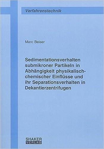 Sedimentationsverhalten submikroner Partikeln in Abhängigkeit ...
