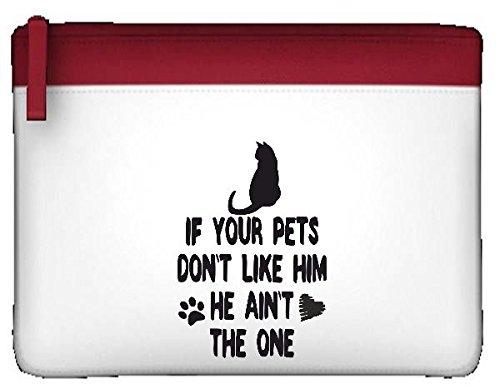 Wenn Ihre Haustiere wie ihn nicht er Ain 't The One Cat Person Animal Lover Funny Federmäppchen, flach Einheitsgröße rot
