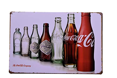 K&H Coke Cola Bottle Revolution Retro Metal Tin Sign Posters Diner Pub Restaurant Wall Decor 12X8-Inch (Coke Bottle Tin)