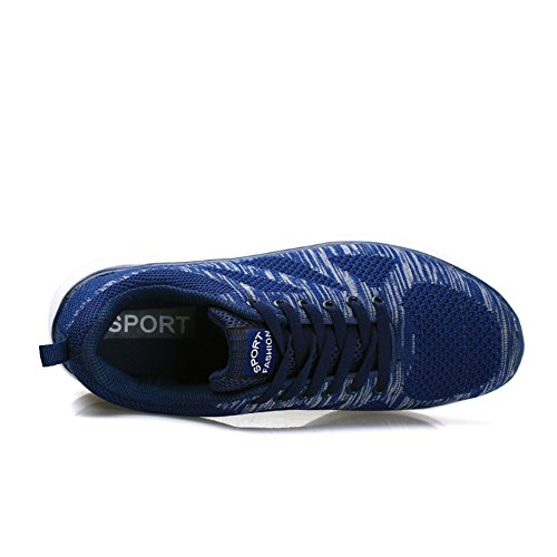 EU Sneakers Scarpe Uomo 43 Cushion Air da Blu Running Allacciare Ginnastica 36 populalar Sportive Donna Atletico 64OcAnWPTP