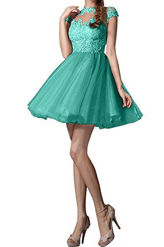 Promkleider Cocktailkleider Abendkleider Gruen Mini Braut Ballkleider Minze La Kurzarm Neu Pfirsisch Spitze mia Tanzenkleider XYTxq8Cn
