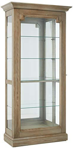 (Howard Miller 680651 Caden III Curio Cabinet, Aged Gray )
