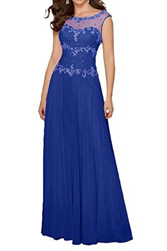 Lemon Gruen Linie Elegant mia mit A Partykleider Langes Chiffon Royal Abendkleider Blau Steine La Brautmutterkleider Rock Braut xptTqpf