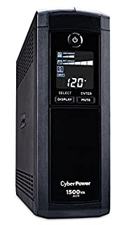CyberPower CP1500AVRLCD Intelligent LCD UPS System, 1500VA/900W, 12 Outlets, AVR, Mini-Tower (B000FBK3QK) | Amazon Products