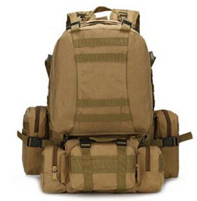 Mefly Mochila Impermeable 3P Army Mochila Bolsa Mochila 40L Para Viajes Combinados Back Pack Multifuncional Verdes Del Ejército brown