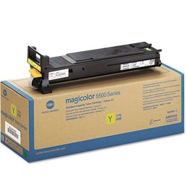 Konica Minolta A06V233 ( 120 V ) - High Capacity - yellow - original - toner cartridge - for magicolor 5550, 5570, 5650, 5670 (5570 Yellow Toner)