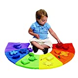 Excellerations Color Sorting Mat 20 Pieces Game for Kids Classroom Addition
