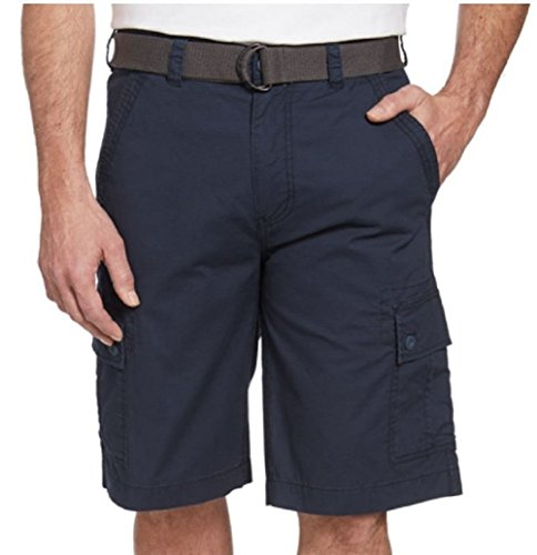 Wear First Mens 685 Legacy Belted Cargo Shorts Dress Navy 34 Belted Stretch Twill Dress