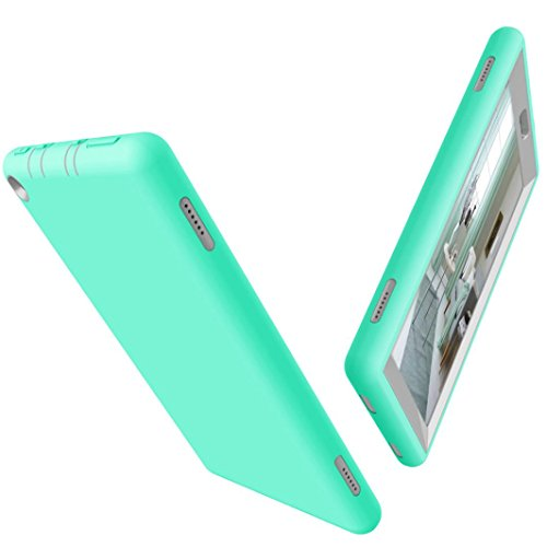 Dreamyth Shockproof Hybrid Case Cover For 8Inch Amazon Kindle Fire HD 8 Tablet Case 2017 (Mint green + gray)