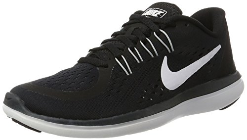 NIKE Women's Flex 2017 RN Running Shoe Black/White/Anthracite/Wolf Grey 5.5 B(M) US
