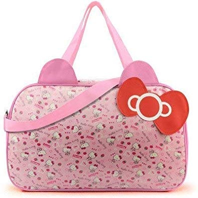 2bb04ca7f Image Unavailable. Image not available for. Colour: Mihawk Cute Hello Kitty  Handbag Girl's Women's Travel Messenger Bags ...