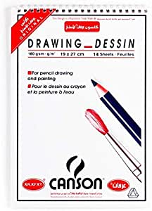 Canson Drawing book, 14 papers, 19 X 27 cm