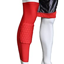 Honeycomb Pad Crashproof Antislip Basketball Leg Knee Long Sleeve