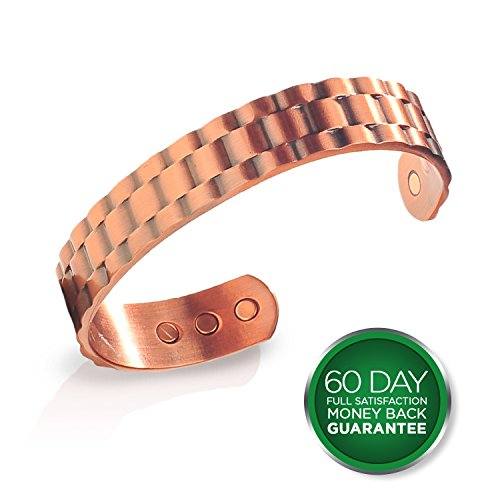 earth-therapy-mens-heavyweight-pure-copper-magnetic-therapy-bracelet-for-sports-recovery-and-injury-