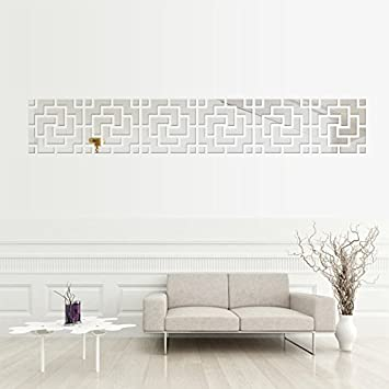 Buy Incredible Gifts India Home Decor Wall Decorative Stickers Silver Set Of 6 Online At Low Prices In India Amazon In
