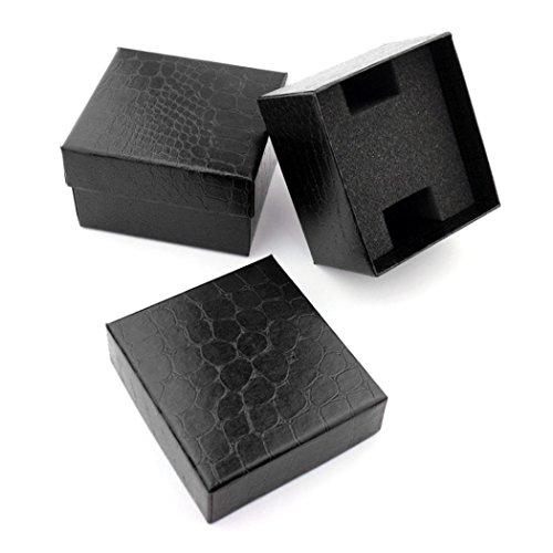 START Black Crocodile Durable Present Gift Box Case For Bracelet Bangle Jewelry Watch Box by Start (Image #4)