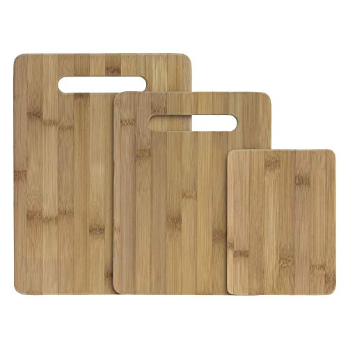 3 Piece Wood Cutting Board - Totally Bamboo 3-Piece Bamboo Serving and Cutting Board Set
