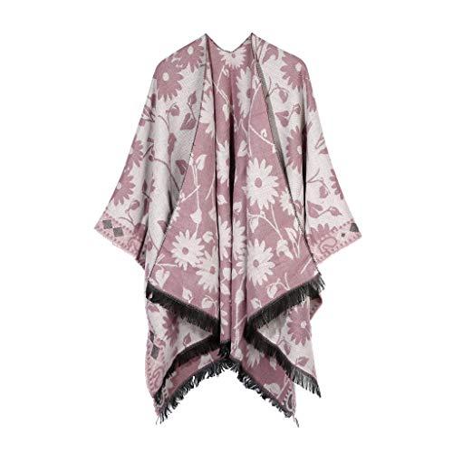 Retro Scarf Printing Shawl Warm Skin-friendly Cloak Wrap