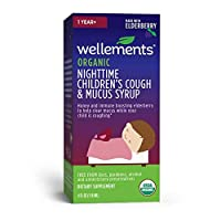 Wellements Organic Kids Nighttime Cough Syrup, 4 Fl Oz, Free from Dyes, Parabens, Preservatives…