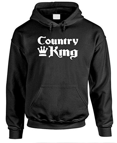 Gooder Tees - Country King - Mens Pullover Hoodie, M, Black ()