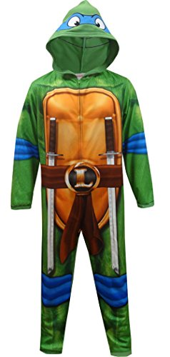 [Teenage Mutant Ninja Turtle Leonardo One Piece Pajama for men (Small)] (Adult Ninja Turtle)