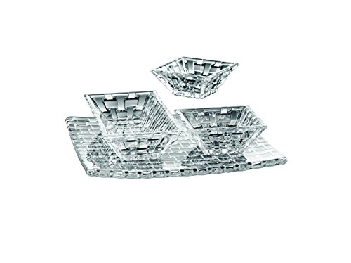 Crystal Serving Platters - Nachtman, Bossa Nova, Serving Set, 4 Pieces